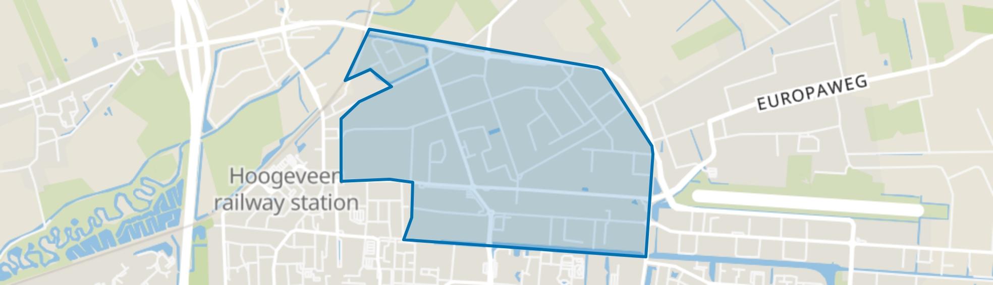 Industriegebied Noord A, Hoogeveen map
