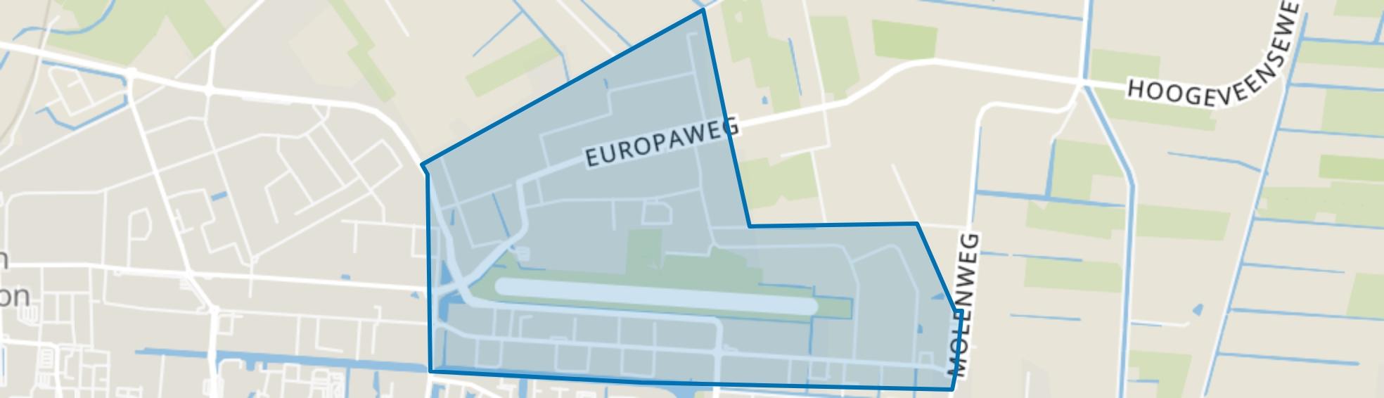 Industriegebied Noord B, Hoogeveen map