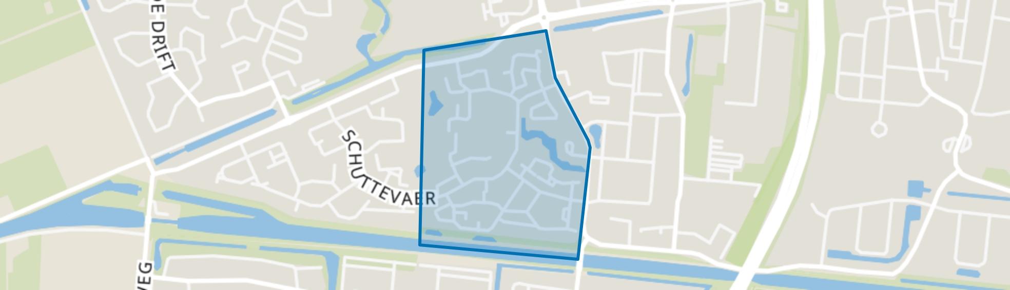 Schutlanden-West, Hoogeveen map