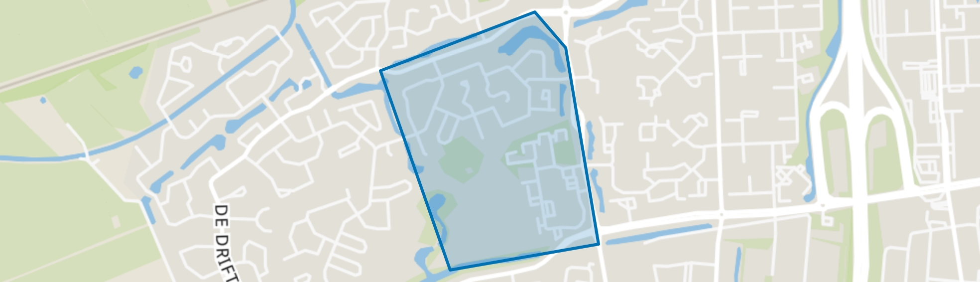 Steenbergerweiden, Hoogeveen map