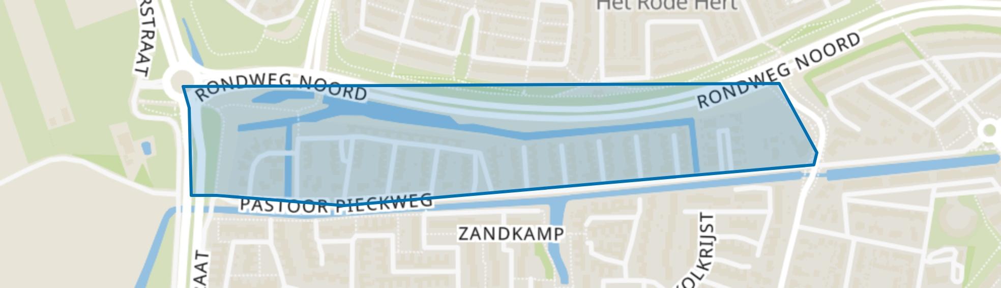 De Biezen, Hoogland map