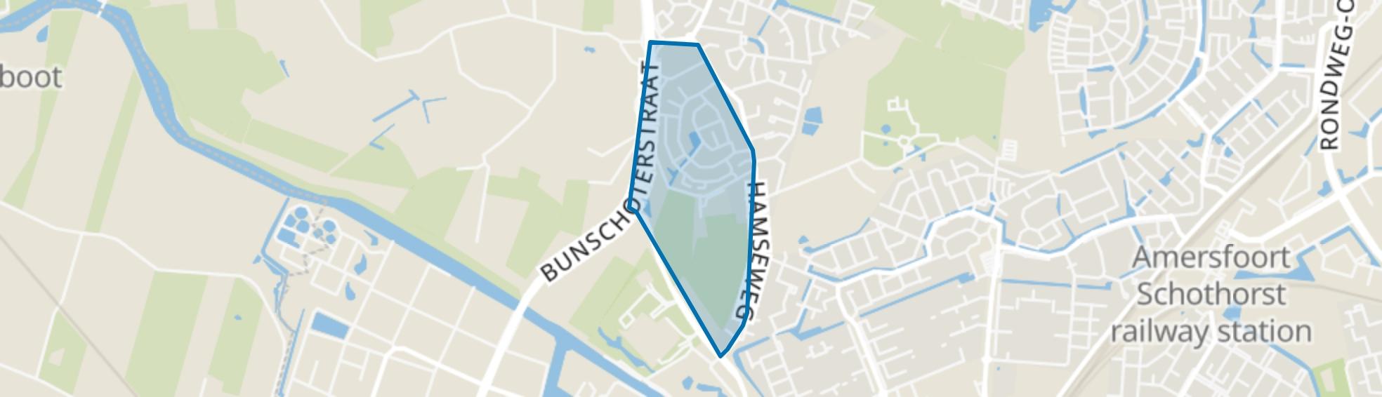De Bik, Hoogland map