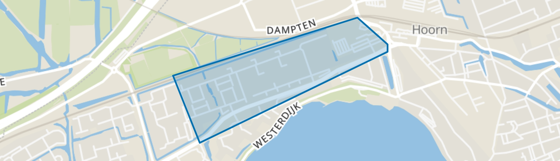 Grote Waal - Buurt 13 01, Hoorn (NH) map