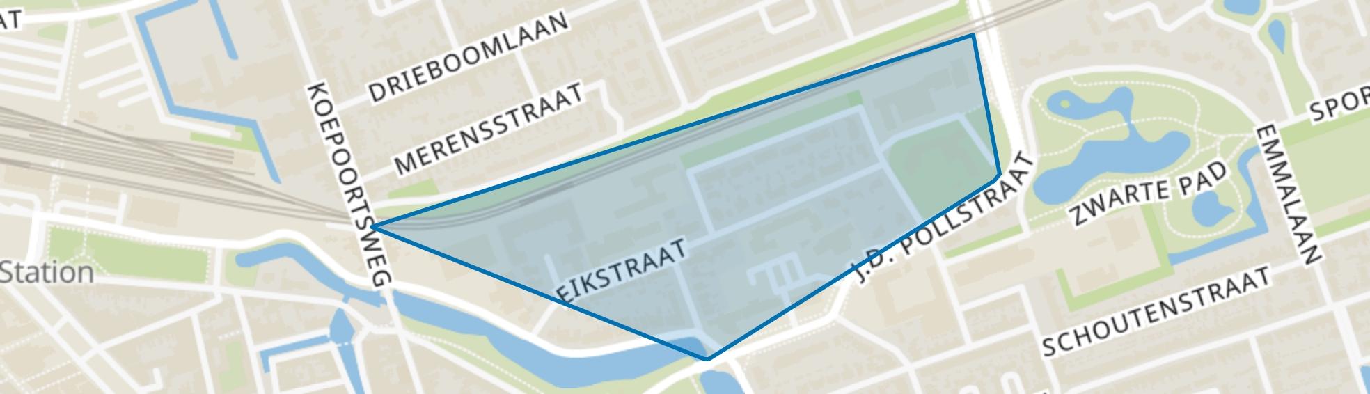 Venelaankwartier - Buurt 11 03, Hoorn (NH) map