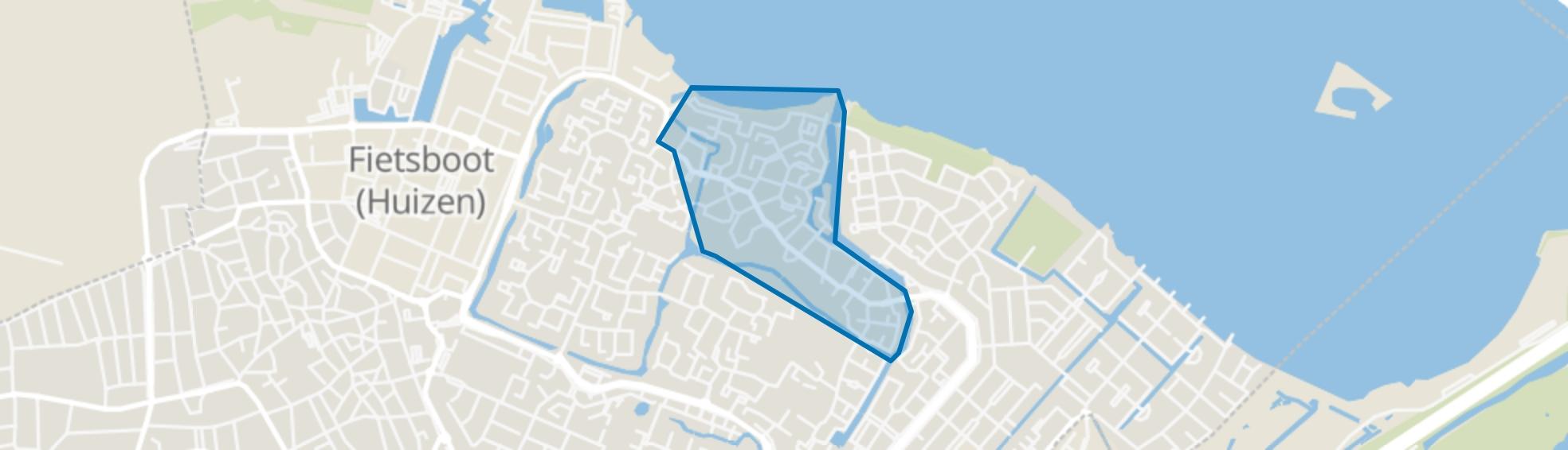 Huizermaat Noord, Huizen map