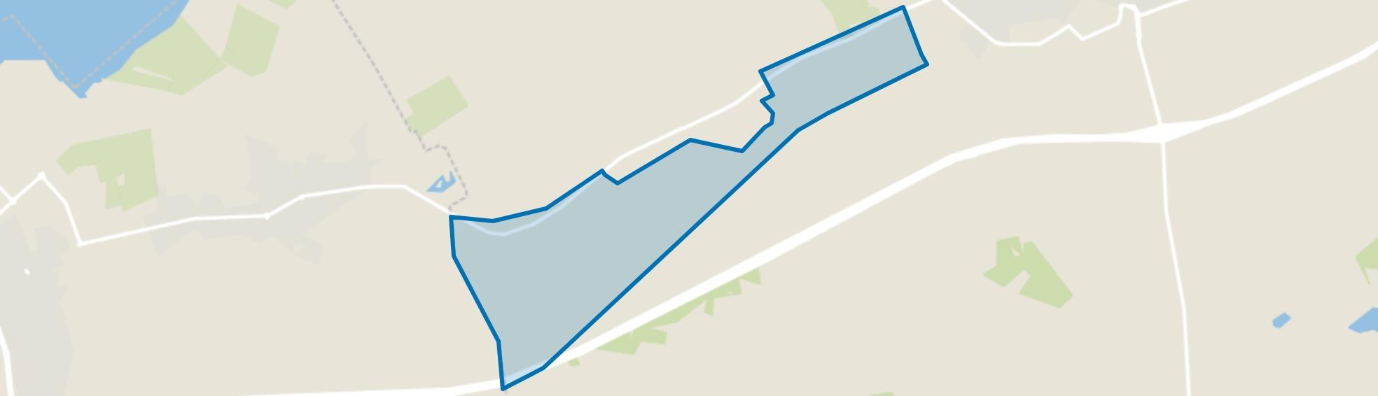 Verspreide huizen Hulshorst, Hulshorst map
