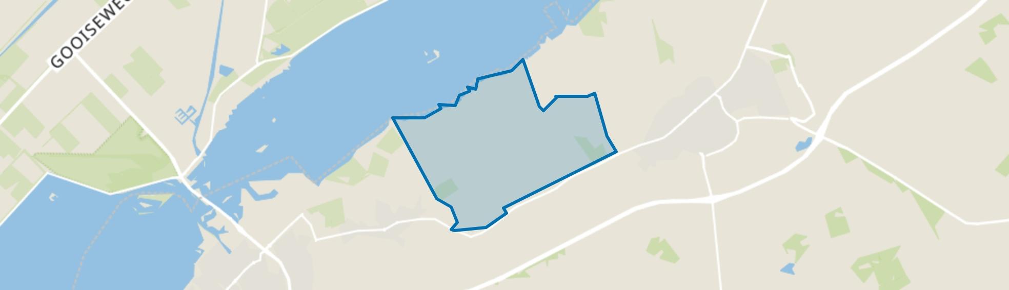 Verspreide huizen Zuiderzeeland Hulshorst, Hulshorst map