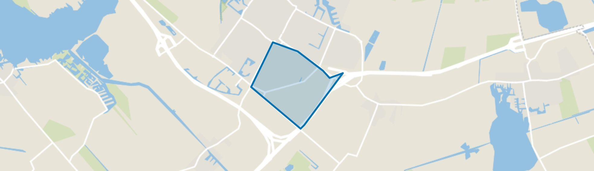 Joure, Zuiderveld, Joure map