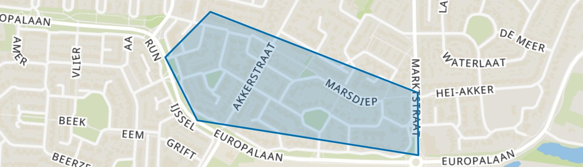 Hil (zuid), Kaatsheuvel map