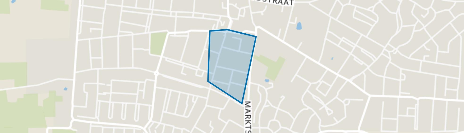 Schrijversbuurt, Kaatsheuvel map