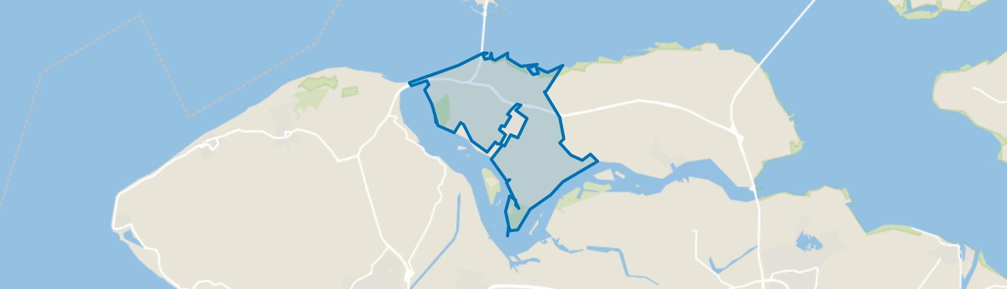 Verspreide huizen Kamperland, Kamperland map