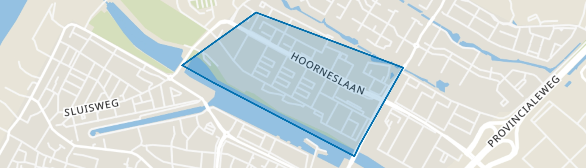 Hoornes-West, Katwijk (ZH) map