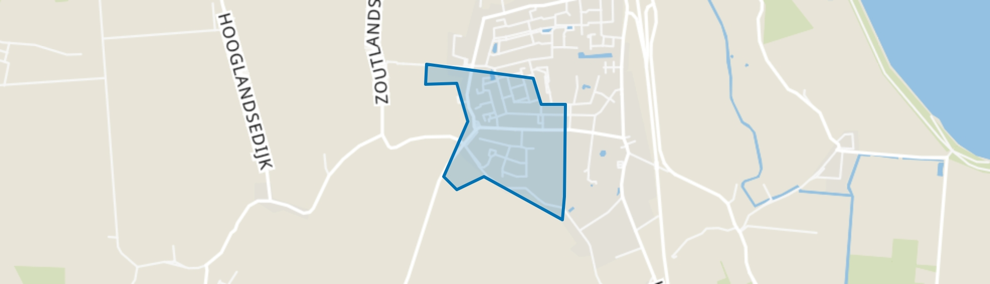 Zandewijk, Kloosterzande map
