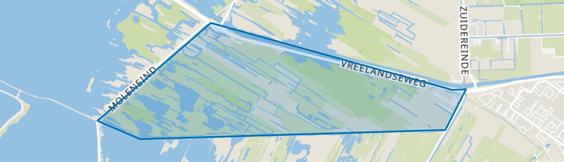Kromme Rade, Kortenhoef map