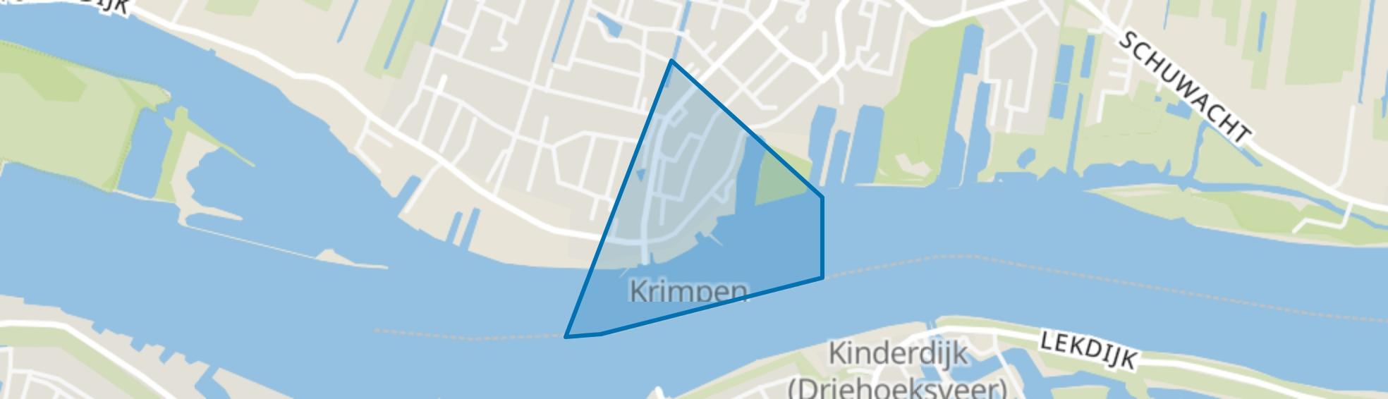 Krimpen Centrum, Krimpen aan de Lek map