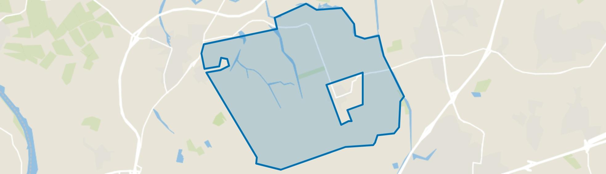Kruislandse polders, Kruisland map