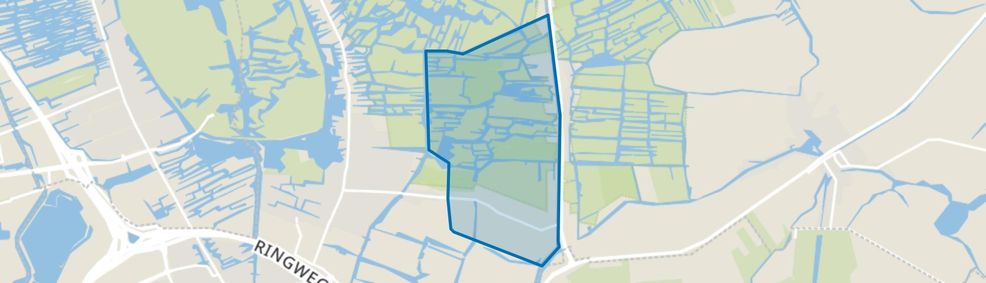 Verspreide huizen ten oosten van Landsmeer, Landsmeer map