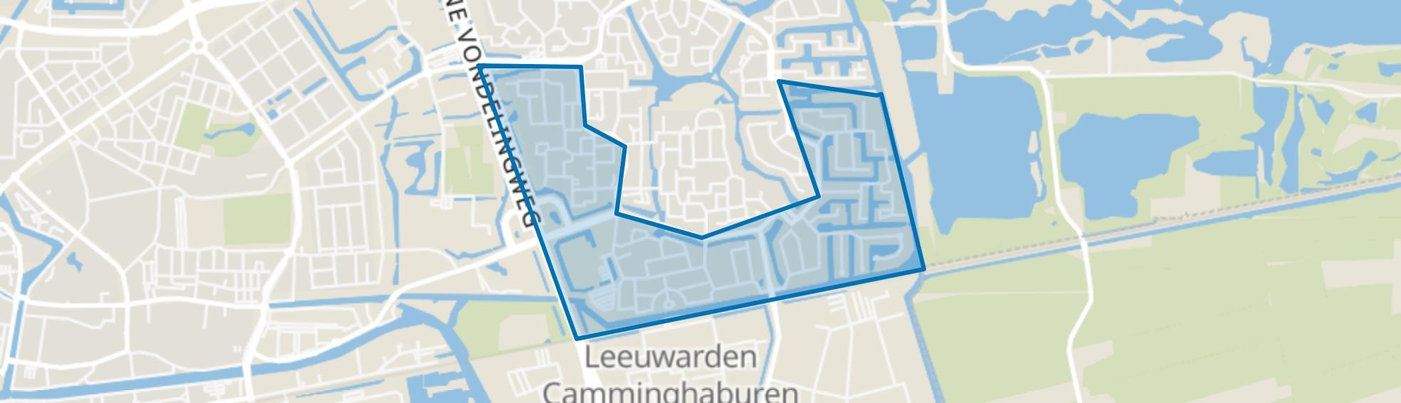 Camminghaburen-Zuid, Leeuwarden map