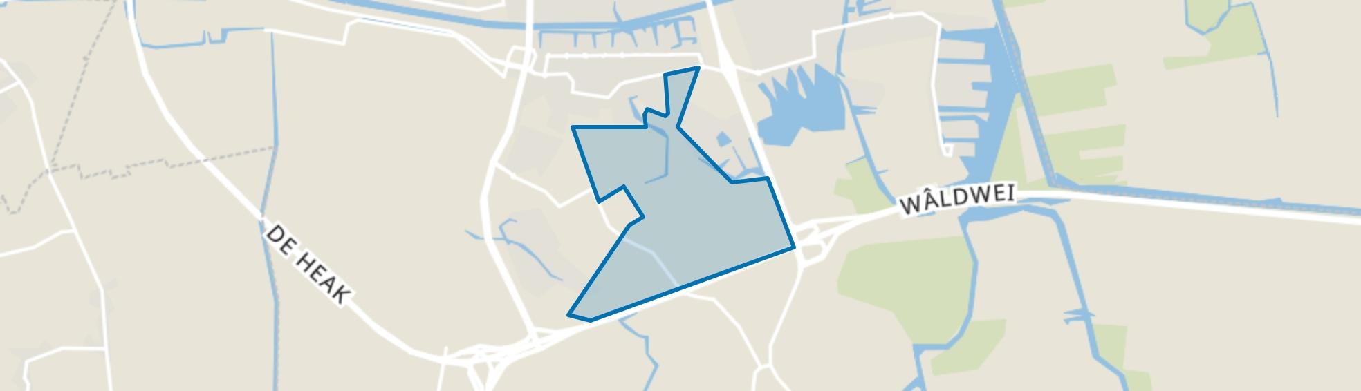 De Zuidlanden, Leeuwarden map