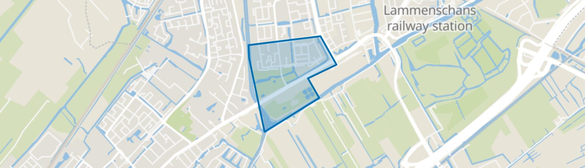 Fortuinwijk-Zuid, Leiden map