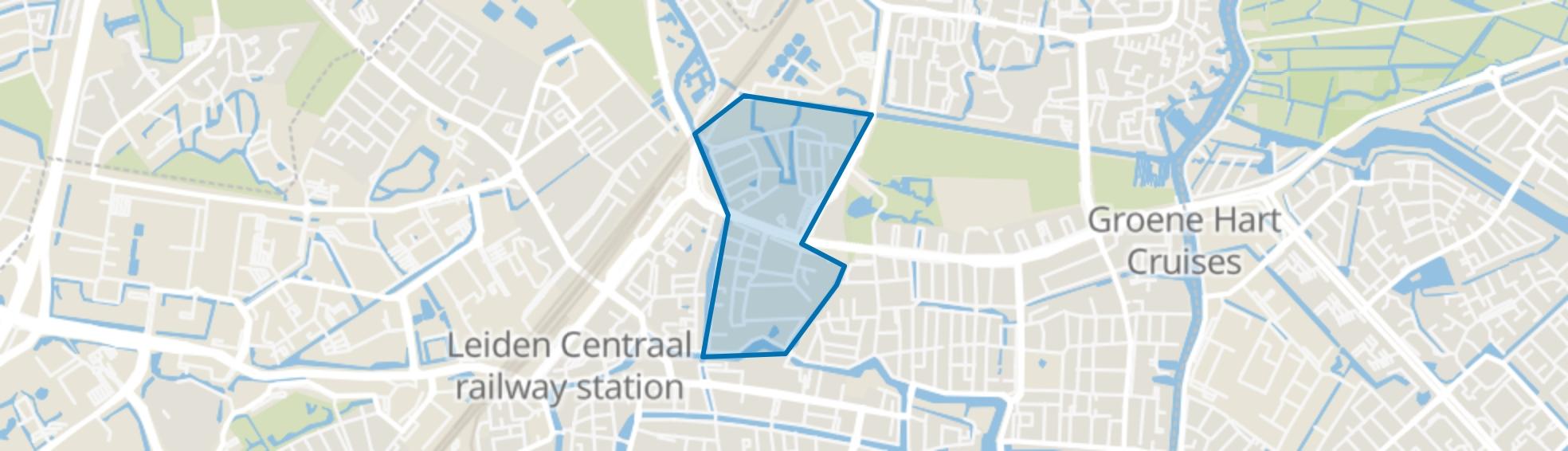 Groenoord, Leiden map