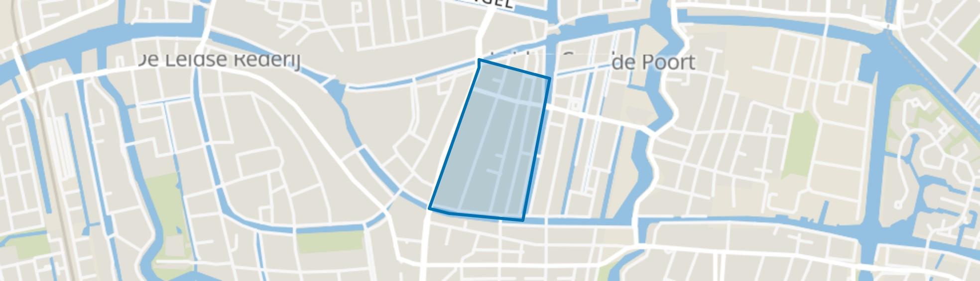 Pancras-Oost, Leiden map