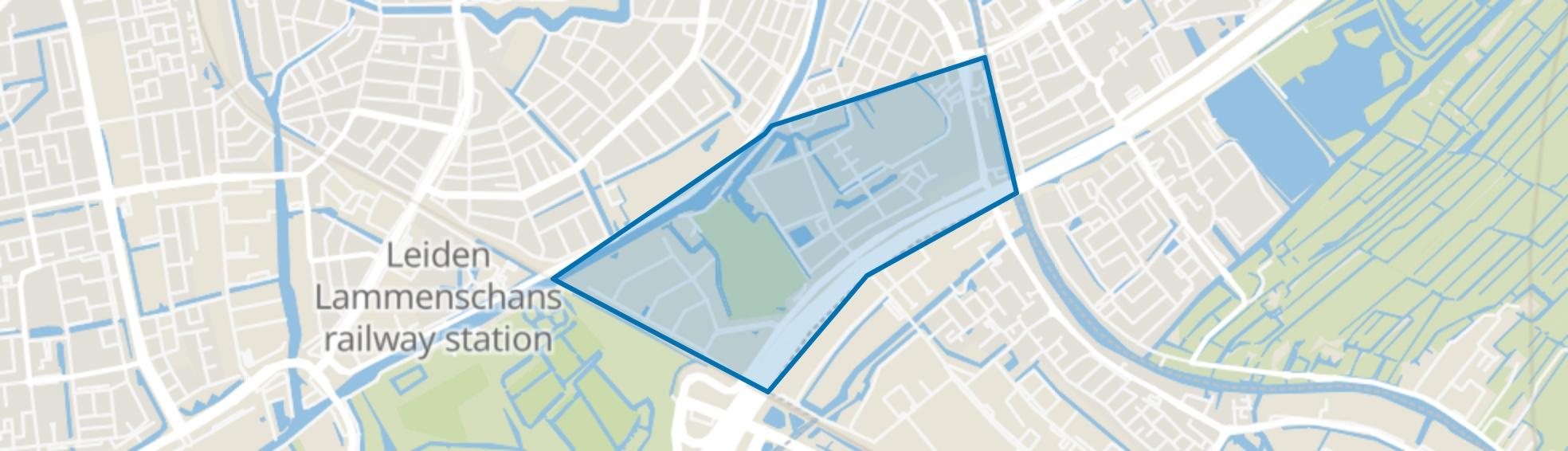 Roomburg, Leiden map