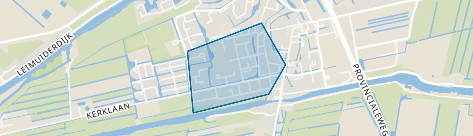 Uitbreiding West, Leimuiden map