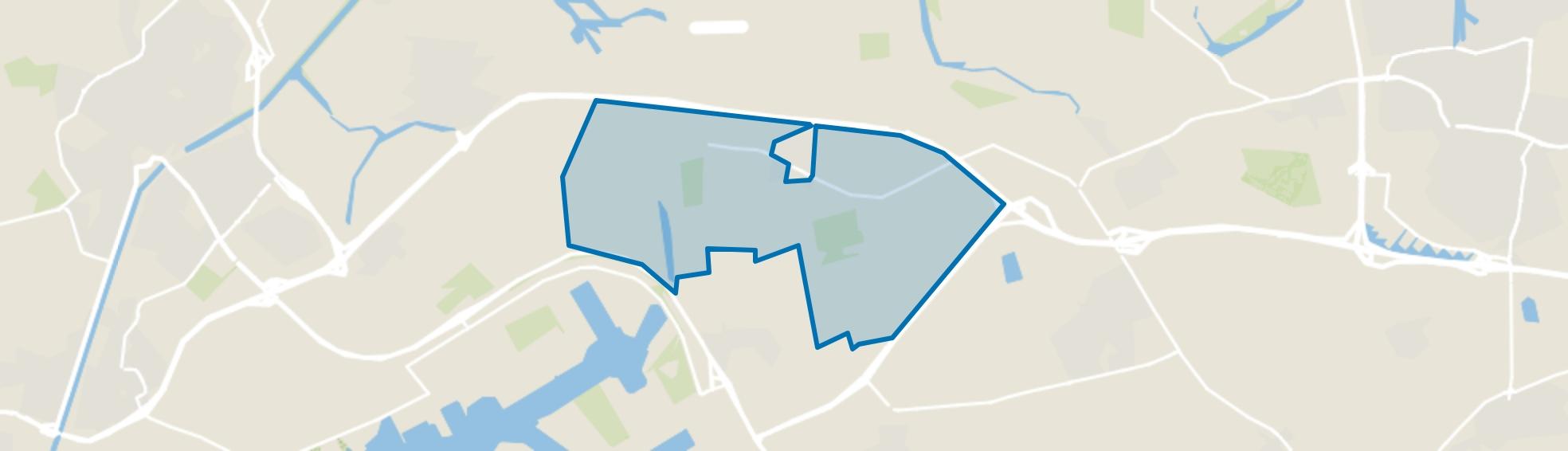 Verspreide huizen Lewedorp, Lewedorp map