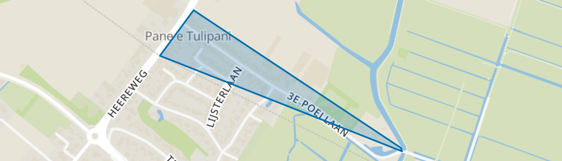 3e Poellaan, Lisse map