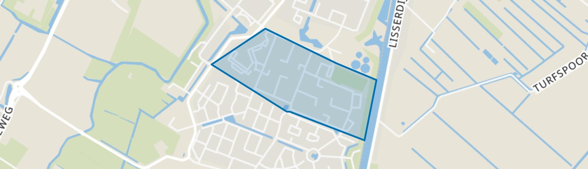 Schildersbuurt, Lisse map