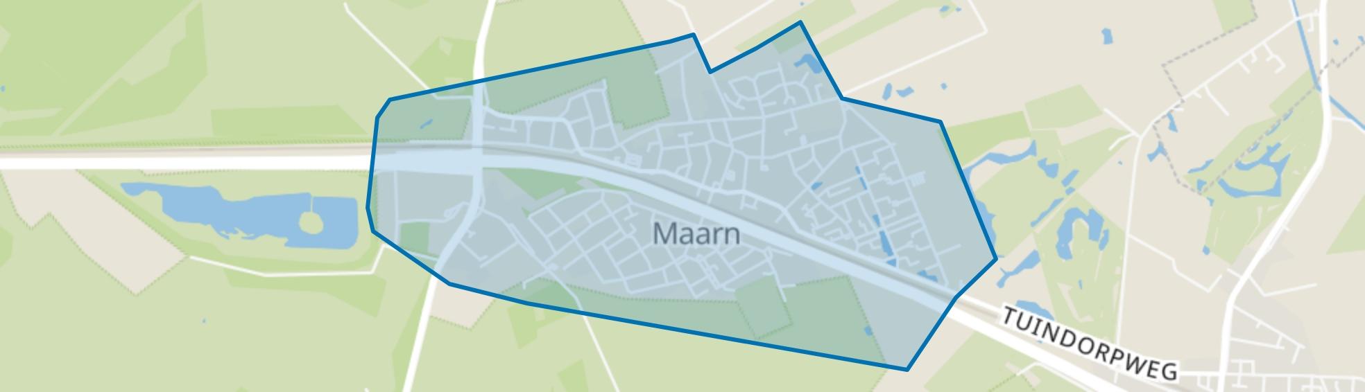 Maarn waaronder Klein Amsterdam, Maarn map