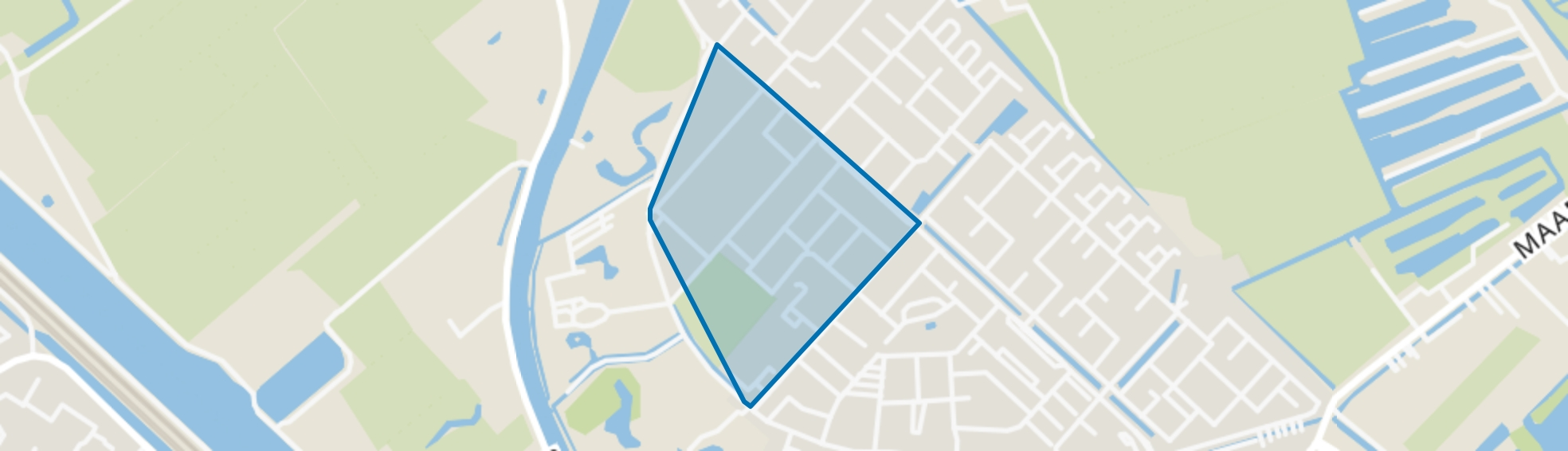 Lanenkwartier, Maarssen map