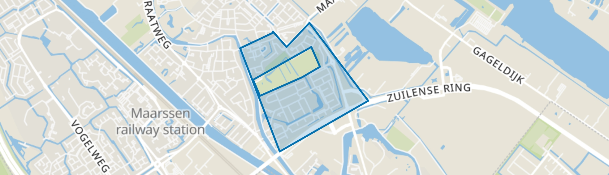 Zandweg-Oostwaard, Maarssen map