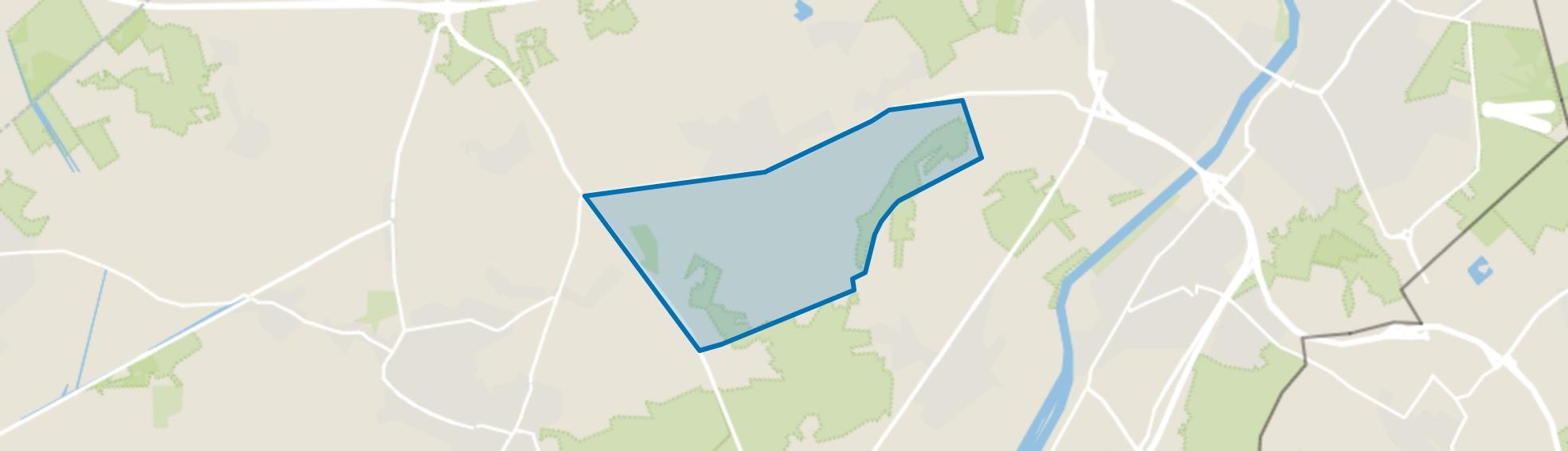 Verspreide huizen ten zuiden van Provinciale weg, Maasbree map
