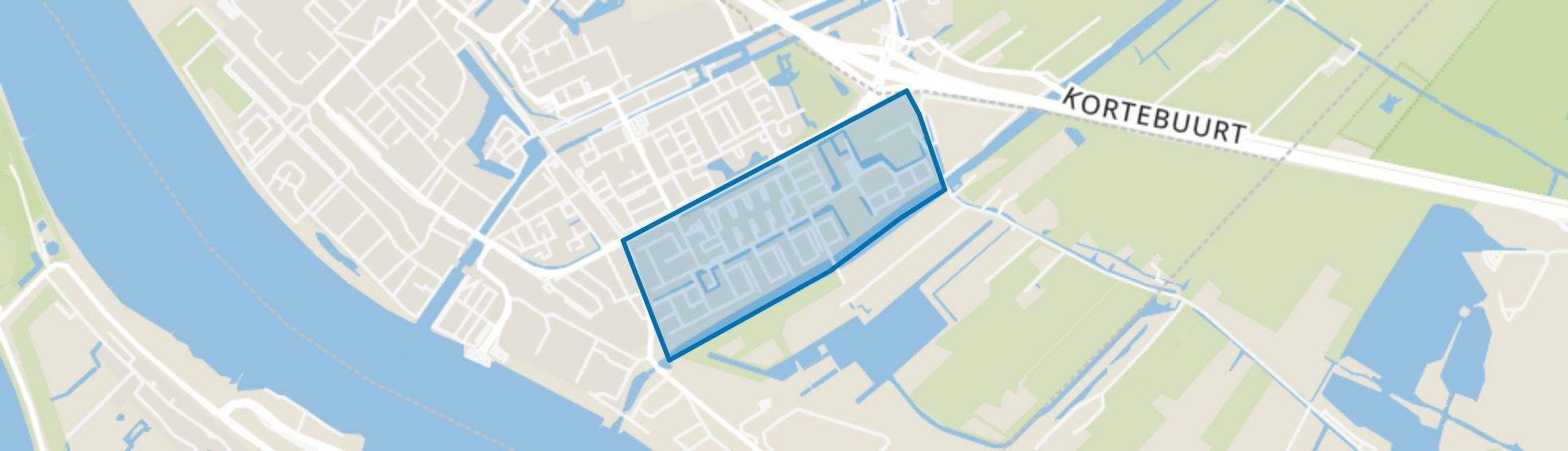 Sluispolder Oost, Maassluis map