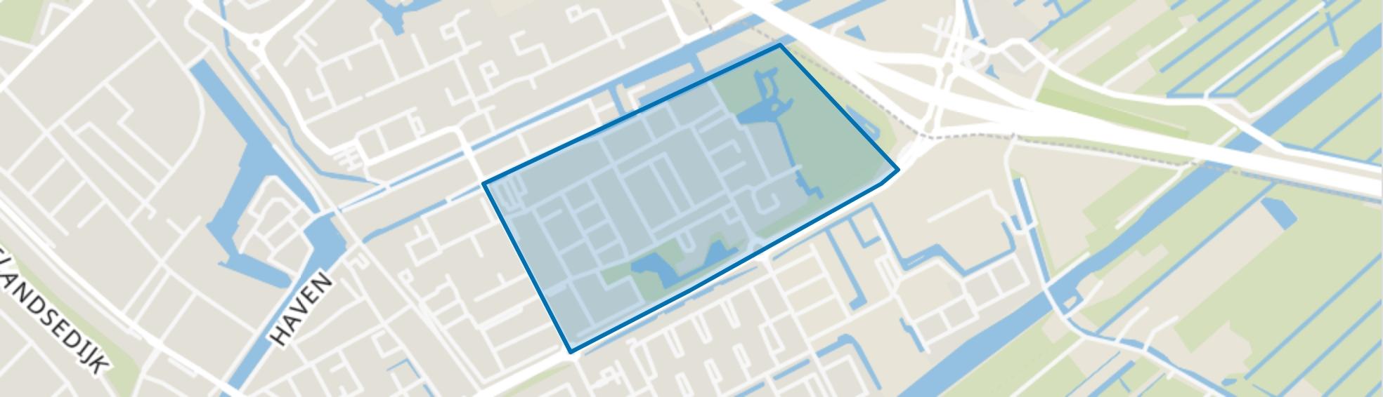 Sluispolder West, Maassluis map