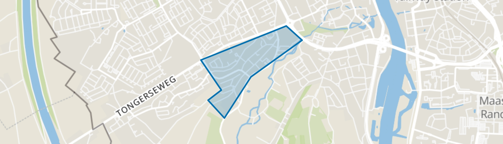 Biesland, Maastricht map