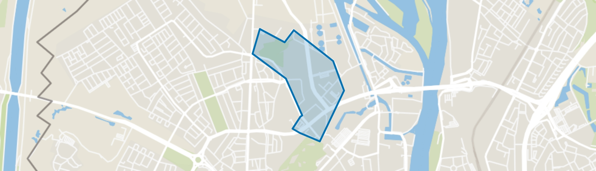 Bosscherveld, Maastricht map