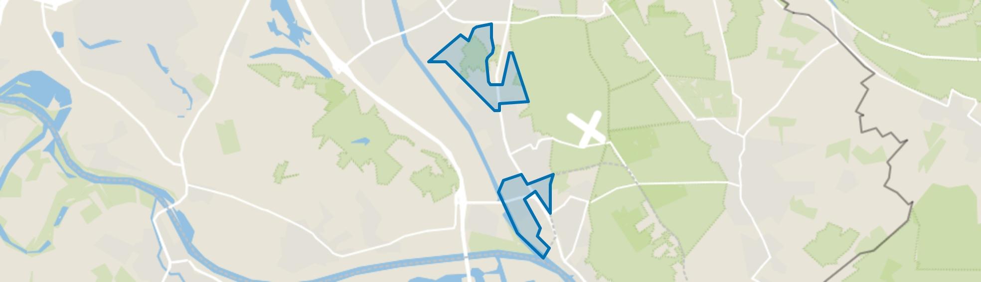 Verspreide huizen Malden, Malden map