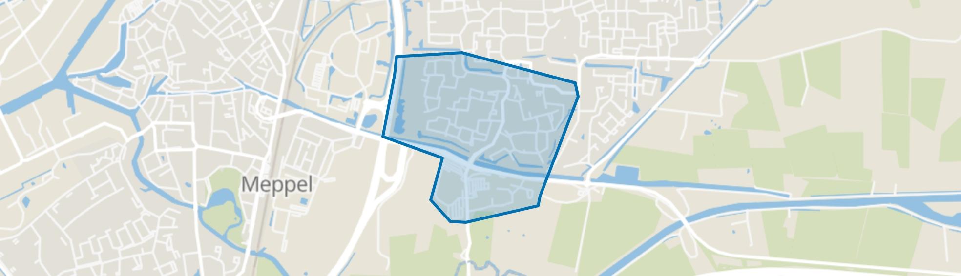 Verzetsbuurt, Meppel map