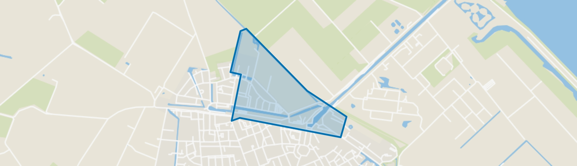 Middelharnis westplaat, Middelharnis map