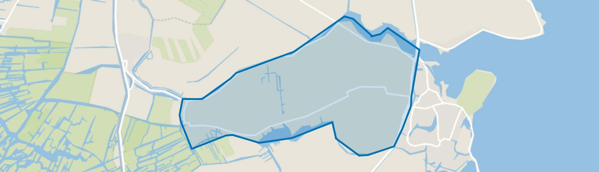 Verspreide huizen, Monnickendam map