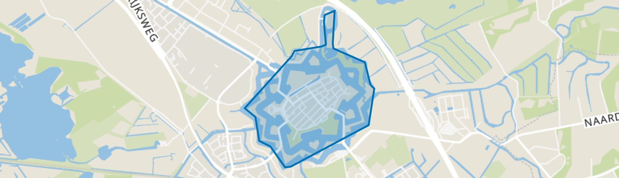 Naarden Vesting, Naarden map