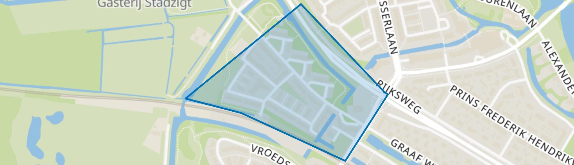 Naardermeerkwartier, Naarden map