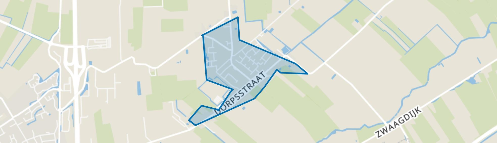 Nibbixwoud Centrum, Nibbixwoud map
