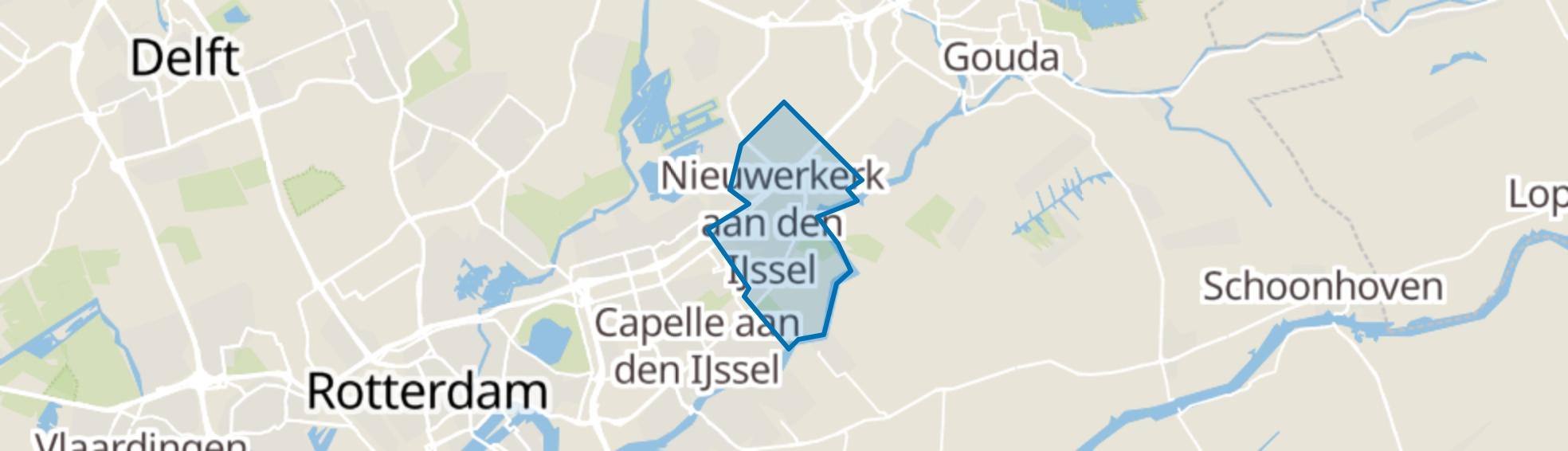 Nieuwerkerk aan den IJssel map