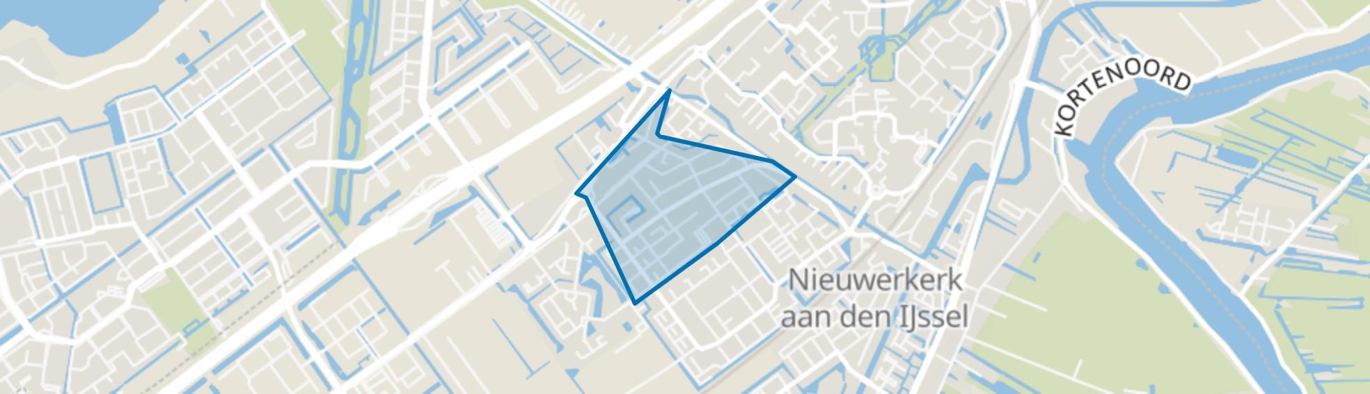 Dorrestein-Noord, Nieuwerkerk aan den IJssel map