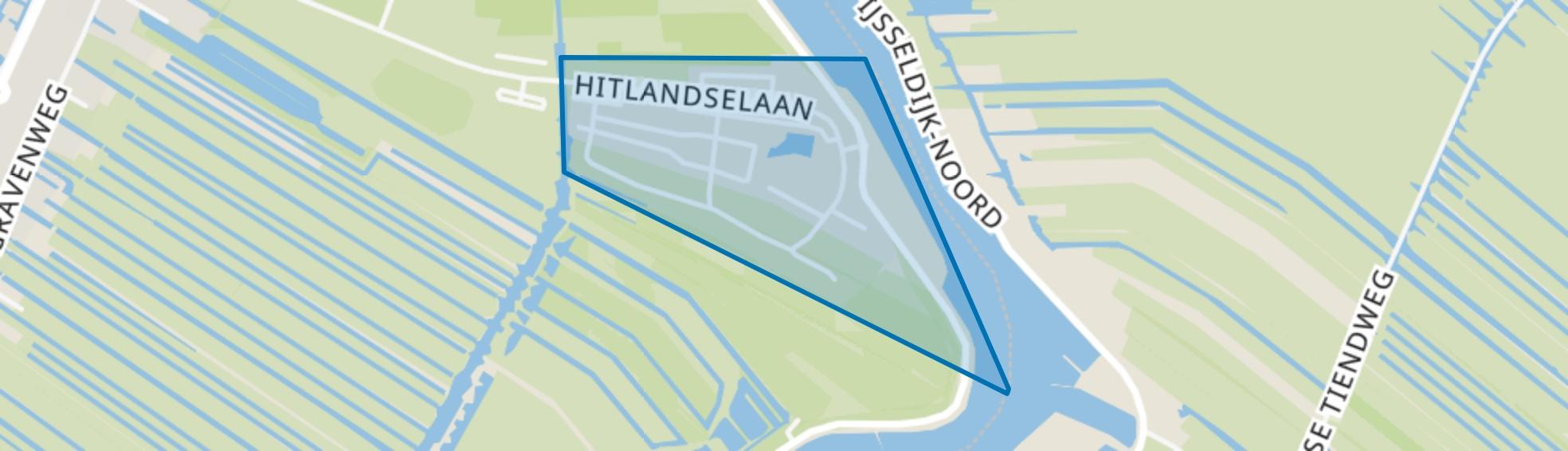 Recreatiepark Klein Hitland, Nieuwerkerk aan den IJssel map