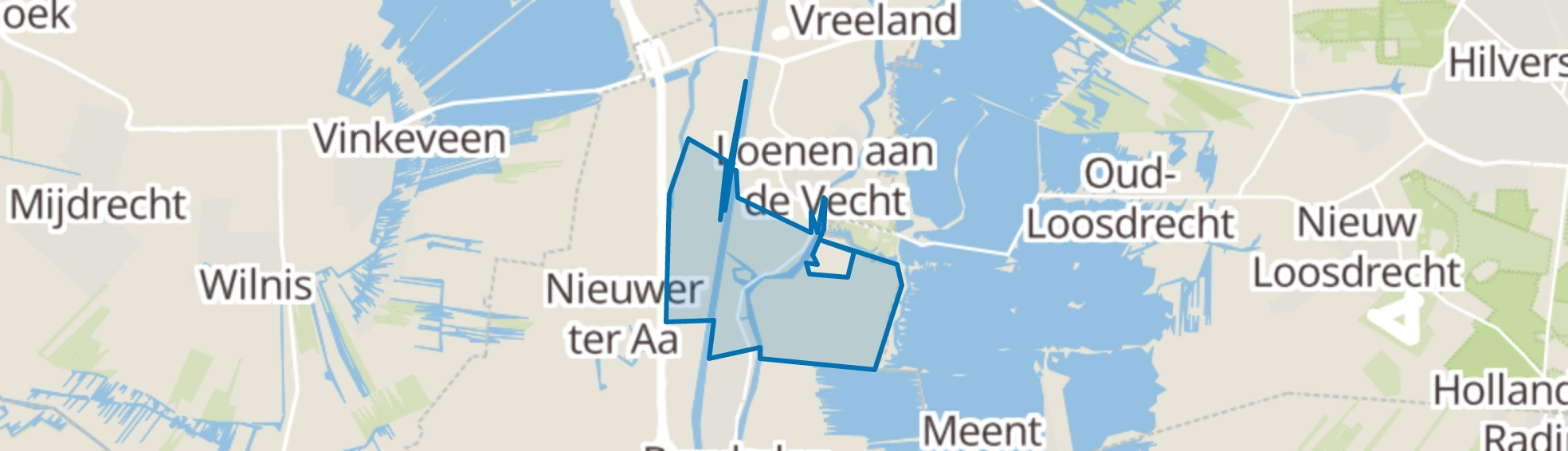 Nieuwersluis map